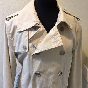 Club Monaco Jackets & Coats - CLUB MONACO Off White Classic Trench Coat Size L